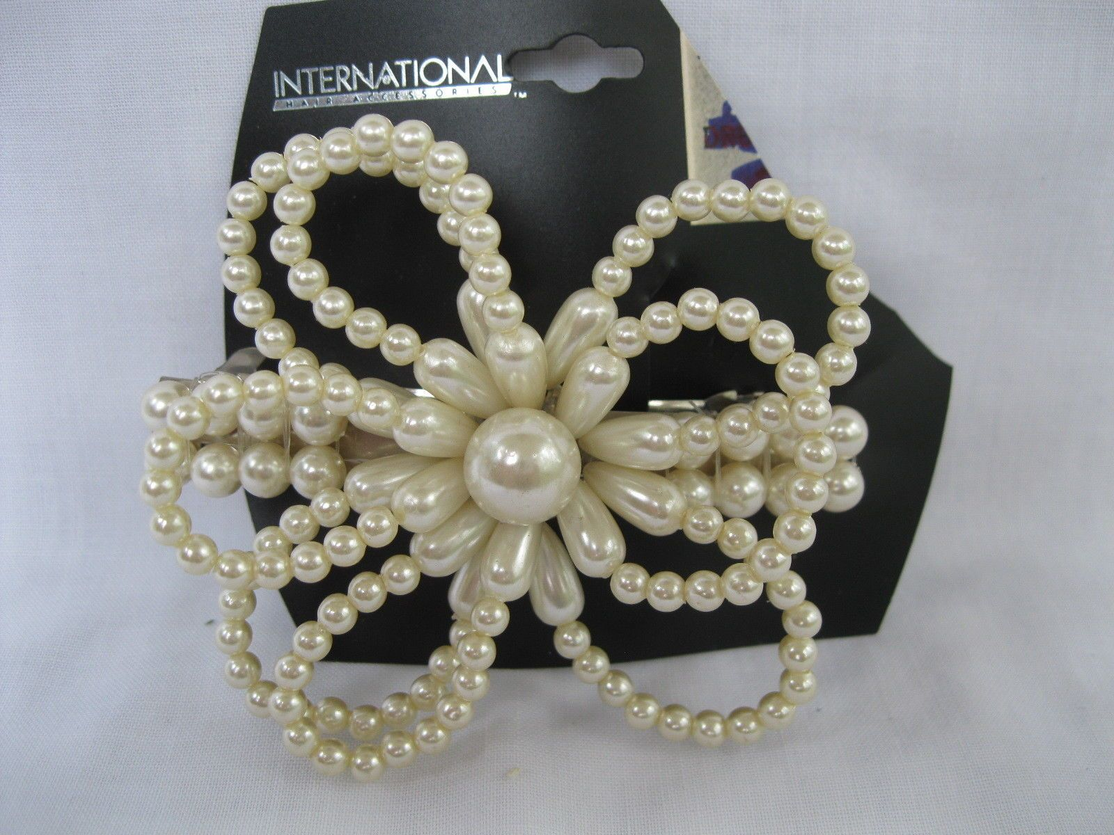 Details about New Large Vintage Pearl Hair Barrette Clip Wedding
