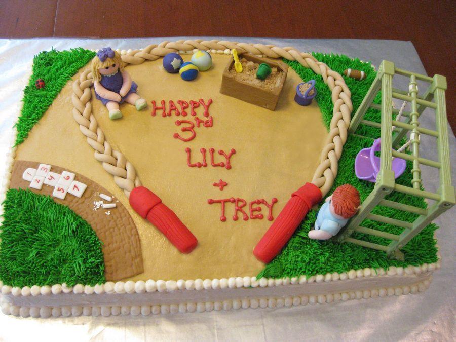 Playground Cake Cakes Pinterest Playground Cake And