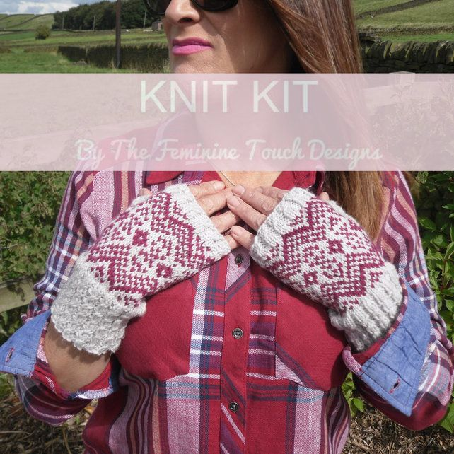 Fair Isle Gloves Knitting Kit | Fair isles, Gloves and Fair isle ...