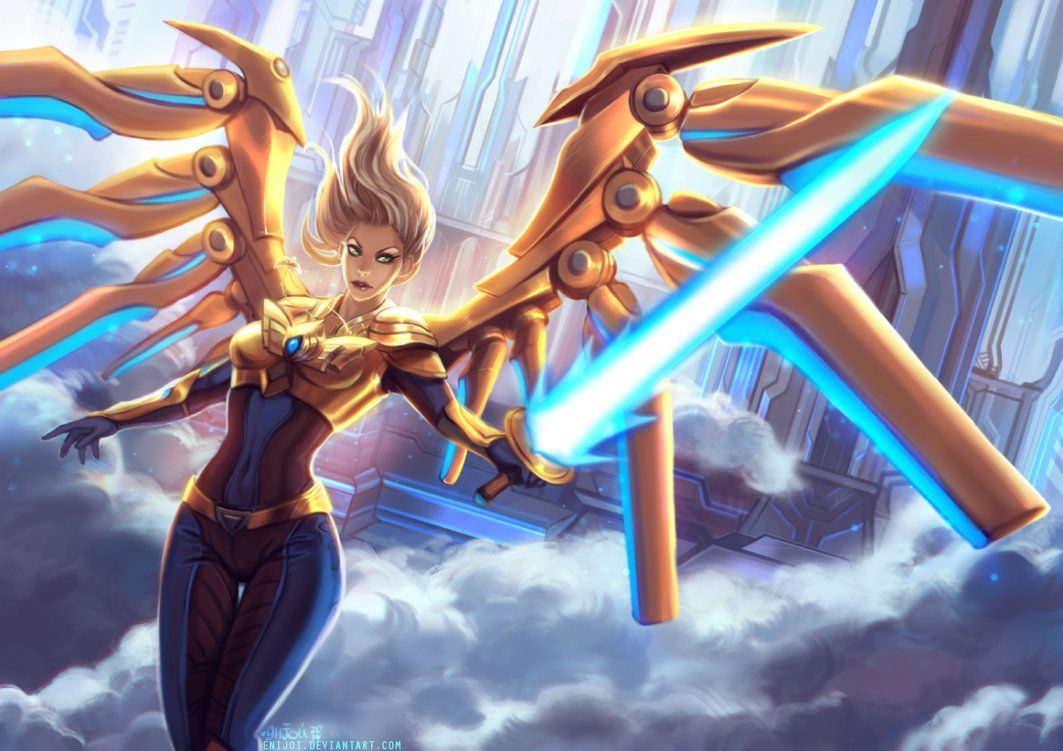 Pin On League Of Legends Girls Aether wing kayle league of legends