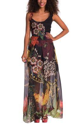 Desigual ELGO maxi dress, $249. Designed by Christian Lacroix for Desigual. angelvancouver.com