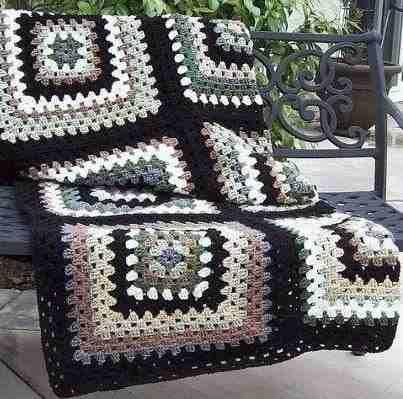 manta cubrecama colcha pie de cama tejido a crochet | Mantas ...