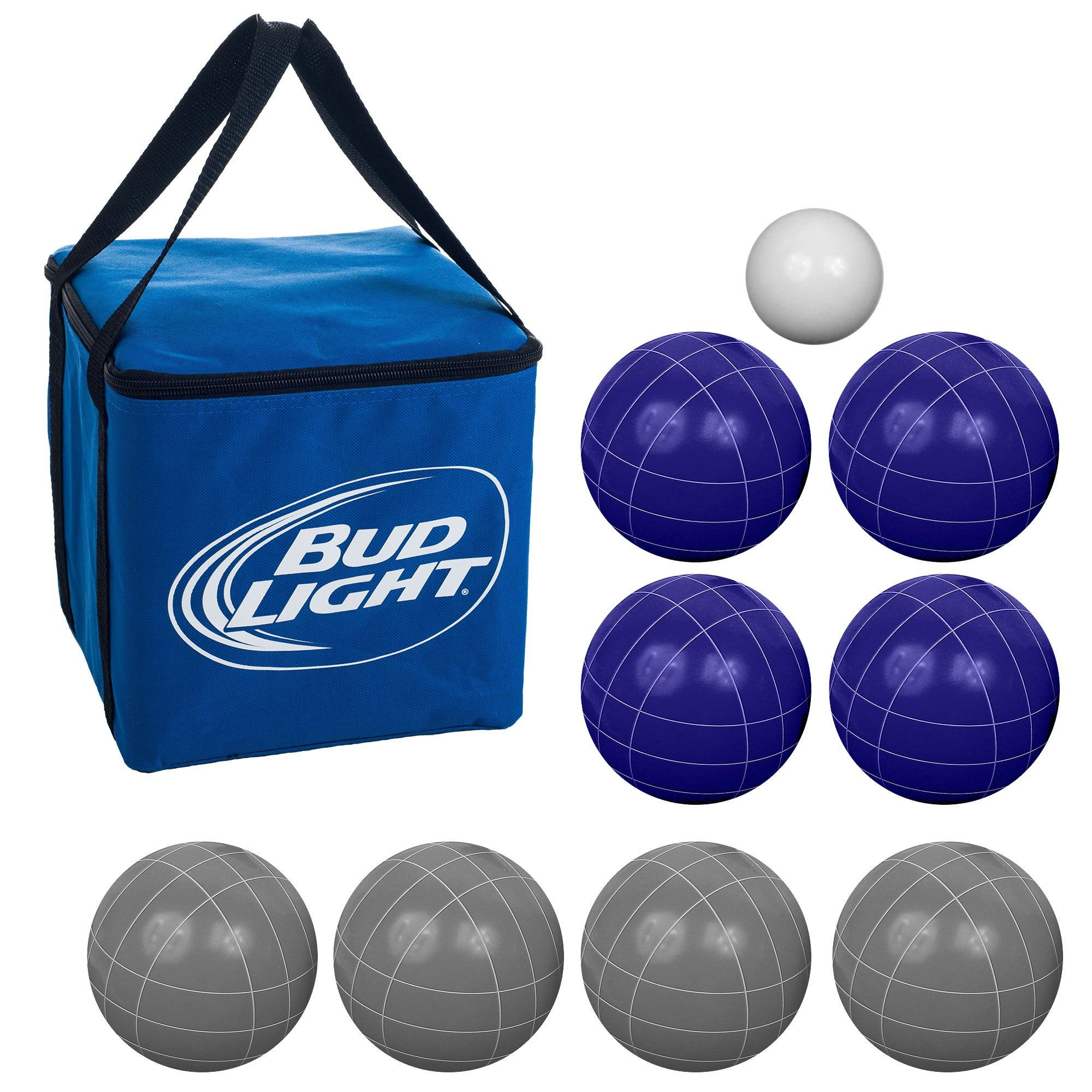Bud Light Bocce Ball Set Regulation Size with Carrying Case