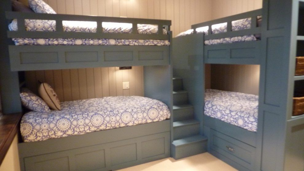 Corner Bunk Beds Kids Traditional With Built Ins L Shaped