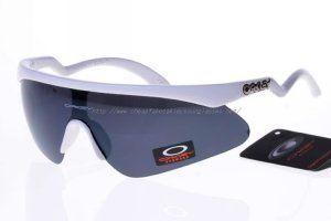 f751b00a82 fake oakleys Stretchline Razor Blade Sunglasses Matte White Frame Blue Lens  http   www