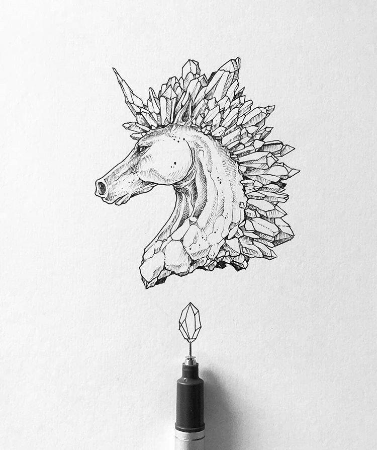 Crystal unicorn - kerbyrosanes