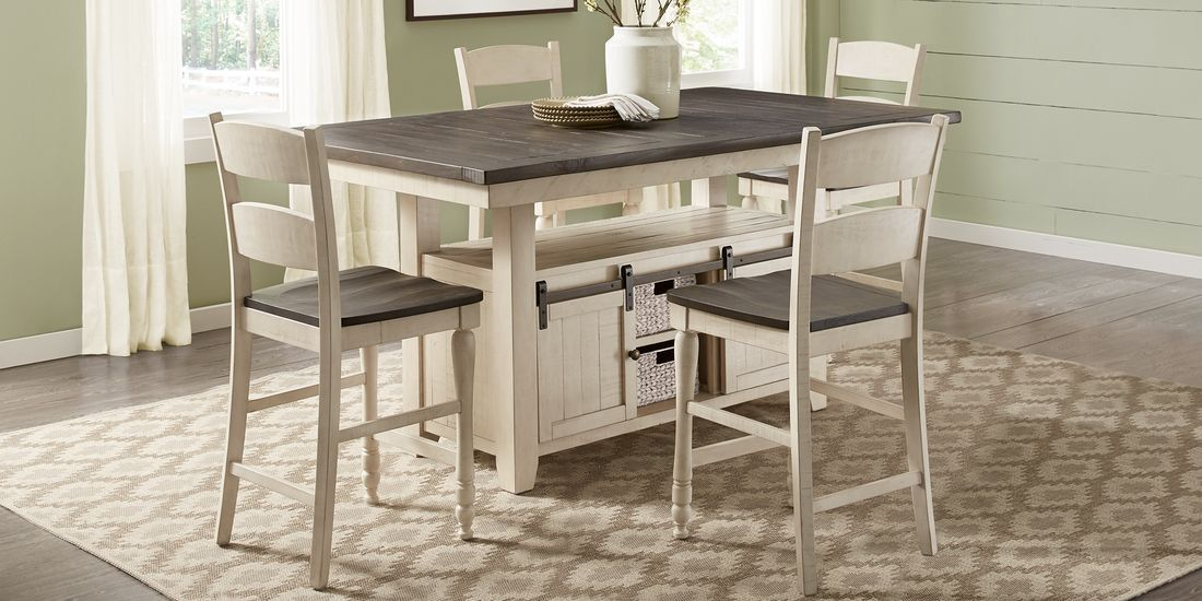 Kenbridge White 5 Pc Counter Height Dining Room in 2020