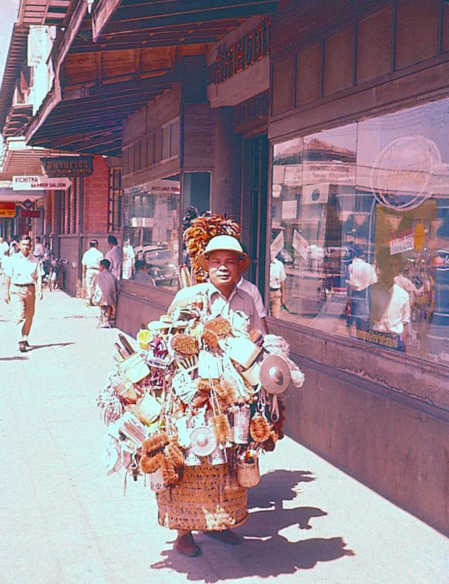 These color snapshots were taken in Bangkok in 1956 by an American photographer when he worked in Siam (now Thailand) for several months in ...
