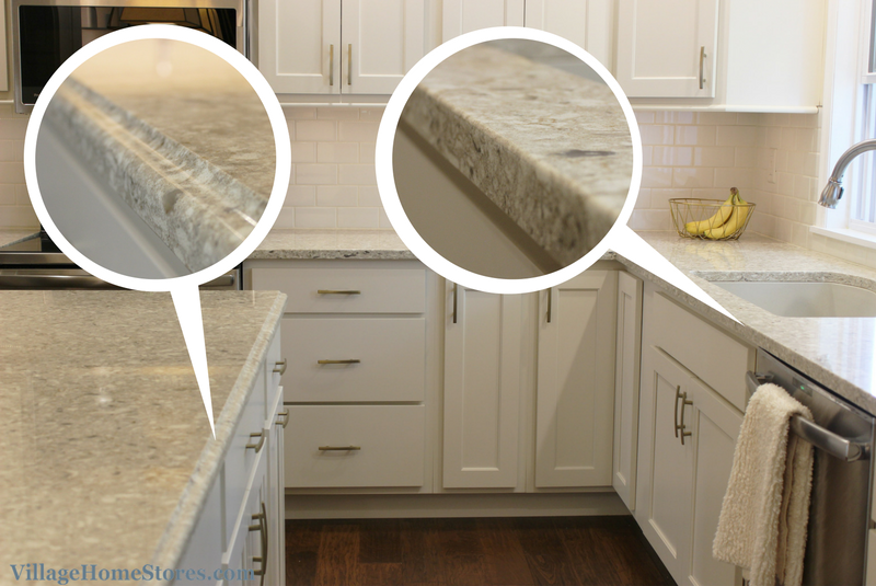 Quartz With Two Edges On Kitchen Counters Ogee Edge On Island And