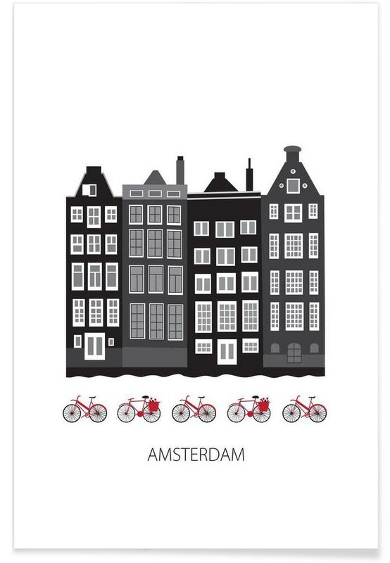amsterdam city als premium poster von forma nova juniqe haus bilder amsterdam bilder. Black Bedroom Furniture Sets. Home Design Ideas
