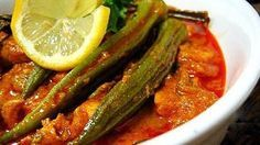 (Okra-Sauce)Zutaten:500 g frische Okraschoten, 1-2 Zwiebeln, 2 1/2 El Tomatenmark, 1 Knoblauchzehe, 1/2 Tl Salz, 2 Zweige frischen Koriander oder 1/2 Tl...