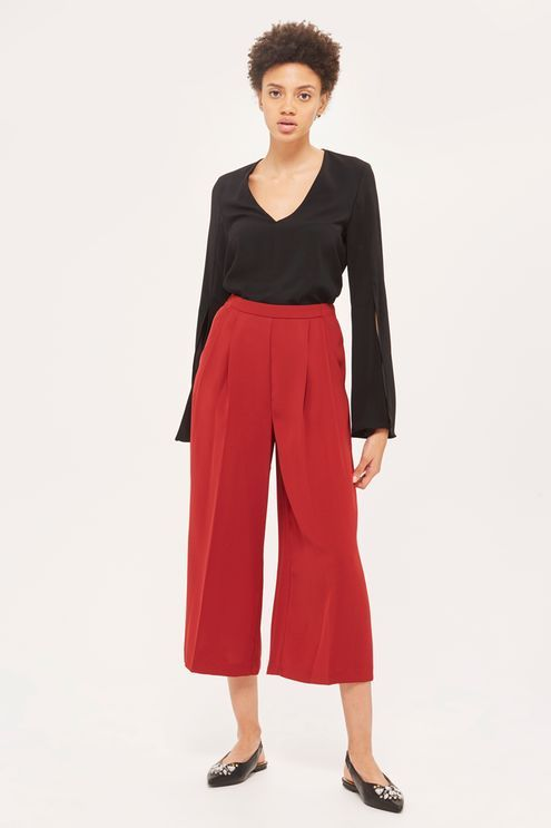 Crop Wide Leg Trouser