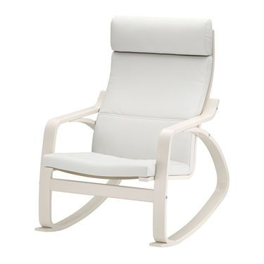 IKEA POÄNG Rocking Chair Layer Glued Bent Birch Frame Gives Comfortable  Resilience.