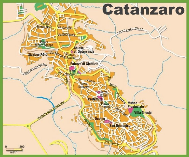 Catanzaro tourist map Maps Pinterest Tourist map Italy and City