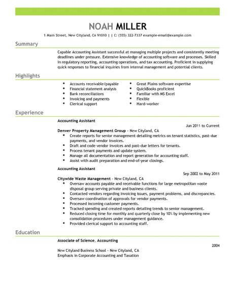image result for sample resume for accountant desktop pinterest