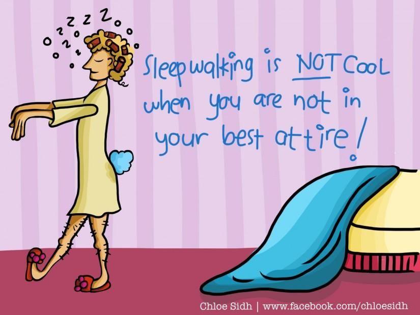 Sleepwalking - Digital Art by Premalatha Sunderam in Humour Me at touchtalent 47506