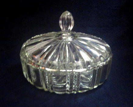 Anchor hocking glass candy dish with glass lid