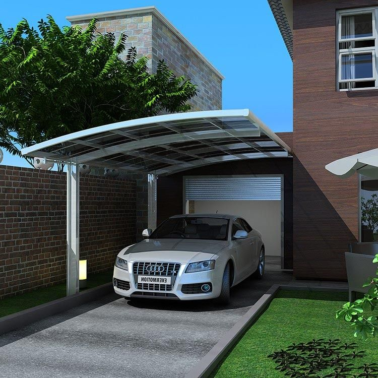 Freestanding Polycarbonate Carport, Single Car Canopy