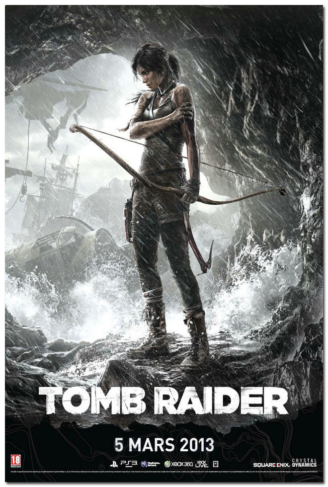 6 99 Tomb Raider Lara Croft Game Art Silk Poster 13x20