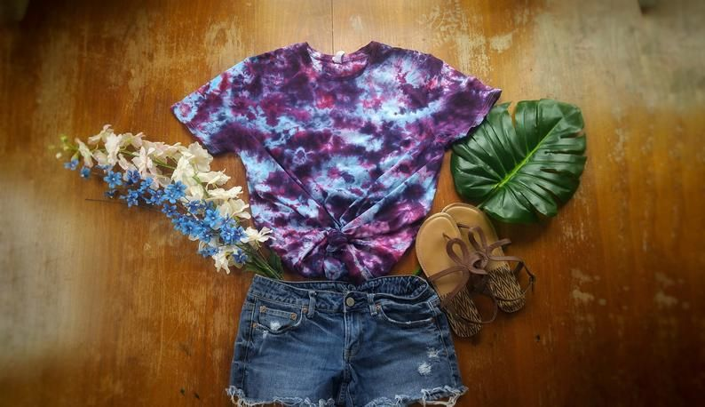 Tie Dye Womens Top Tie Dye Long Sleeve Cardigan Hand Dyed Tie Dye Clothing Boho Clothing Tie Dye Loungewear Hippie Clothes