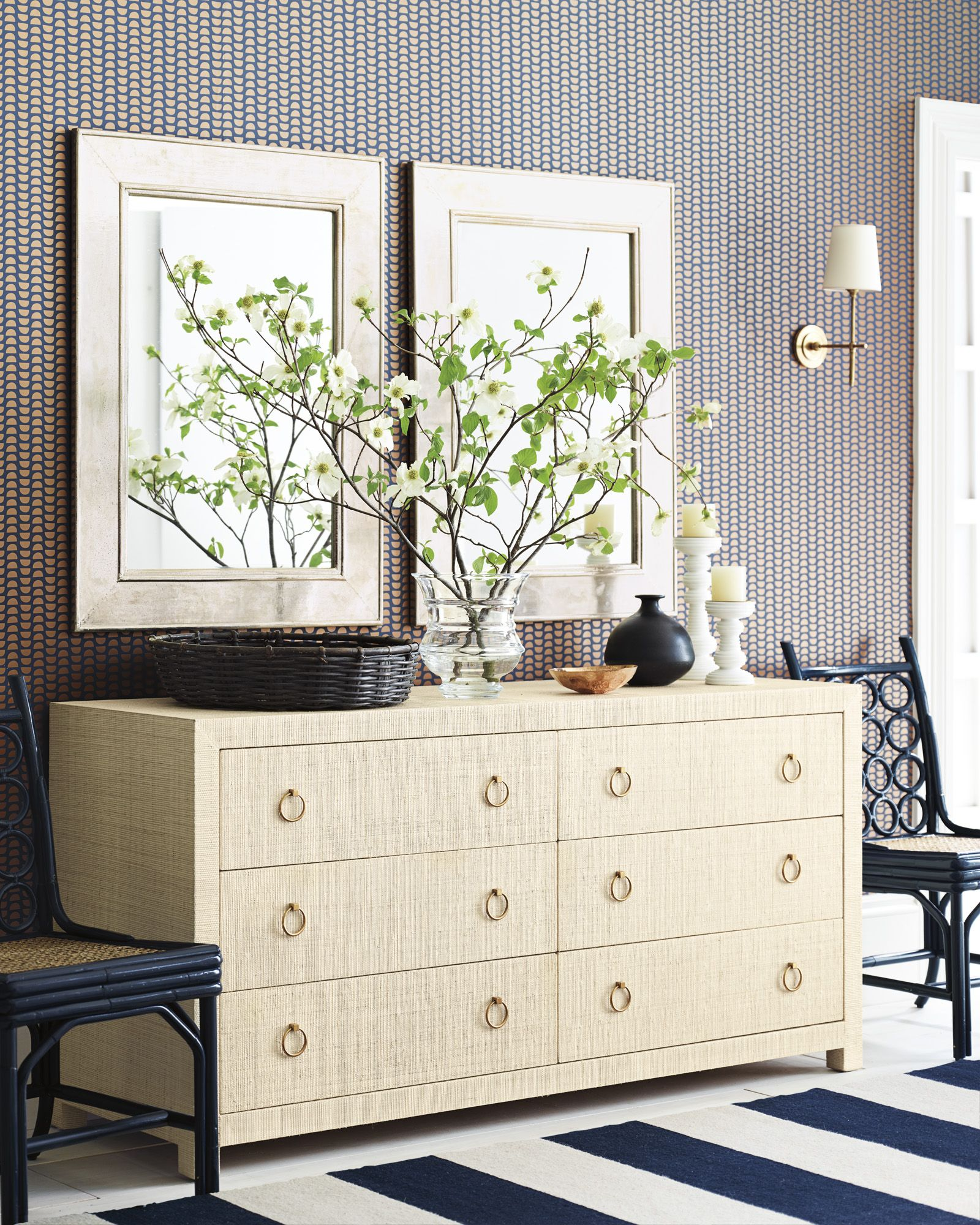 blake raffia wide dresser image via serenaandlily coastal rh pinterest com