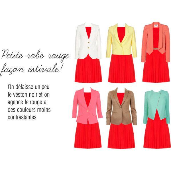 Une multitude de façon d\'agencer une robe rouge (autre que noir ...