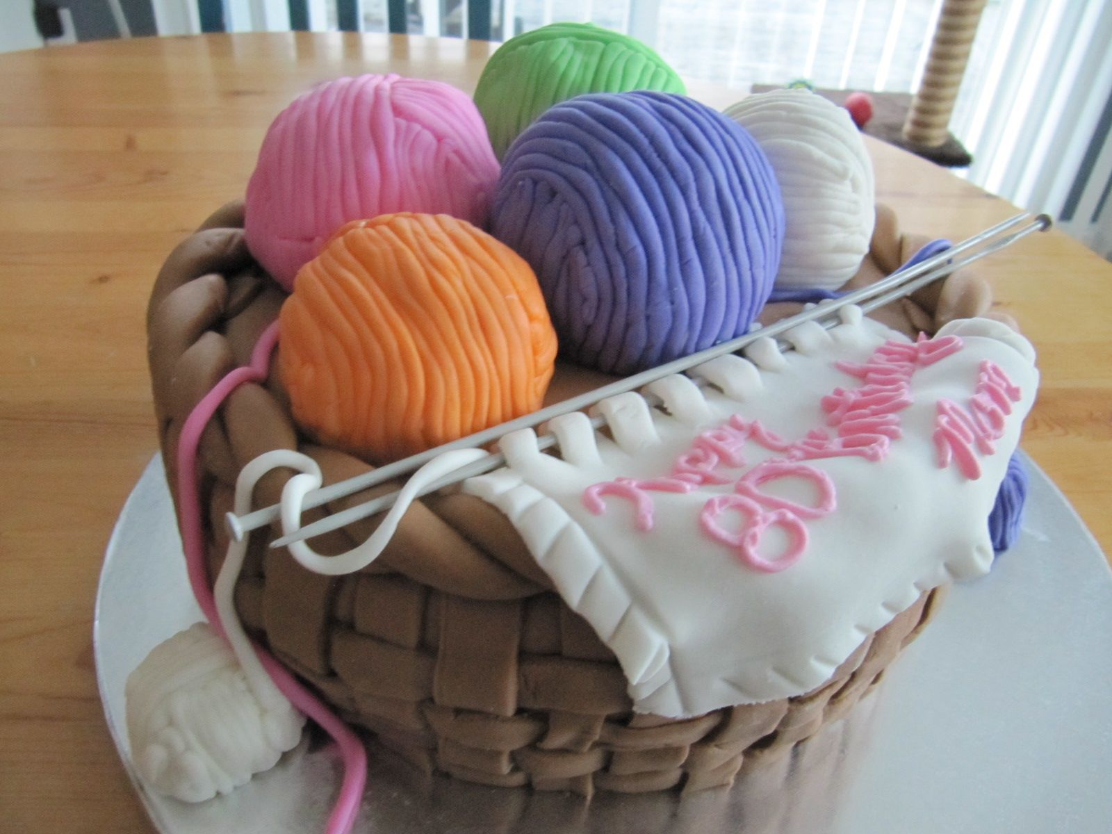 Basket Of Yarn Cake
