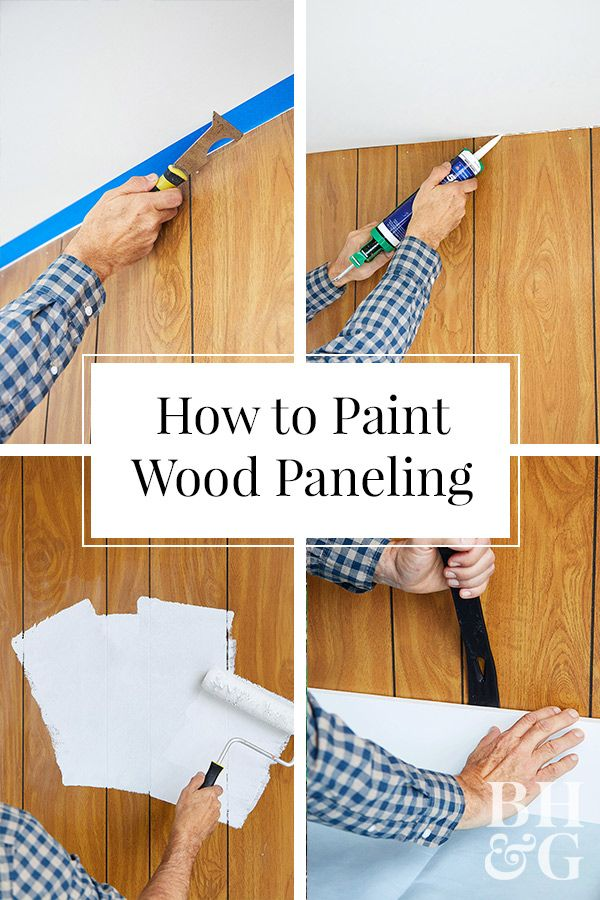 How to Paint Wood Paneling is part of Painting wood paneling, Wood panel walls, Paint over wood paneling, Painted paneling walls, Wood paneling, Wood bedroom - Take your home out of the 1970s by painting your wood paneling  We'll show you how simple it is to give wood paneling a clean, modern look with paint