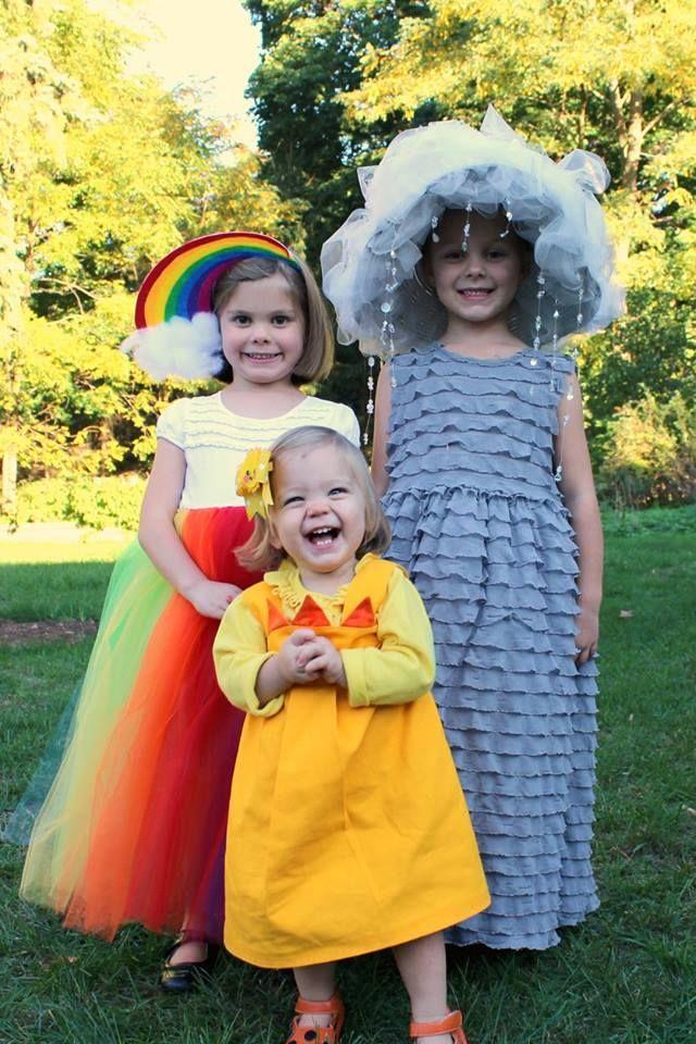 Sibling Halloween costumes. Rain cloud + sunshine u003d rainbow!  sc 1 st  Pinterest & Sibling Halloween costumes. Rain cloud + sunshine u003d rainbow ...