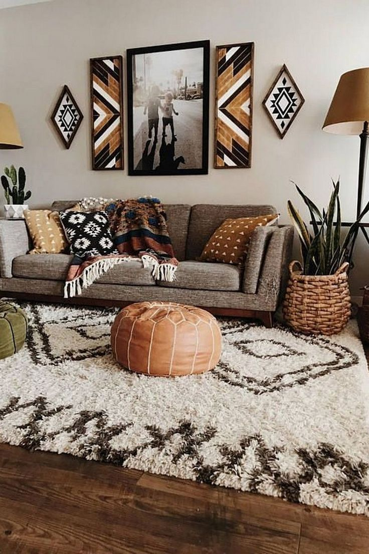 Living room Boho-chic Couch Bohemianism Furniture Interior design in 2020 | Living room decor modern, Interior design living room, Boho living room