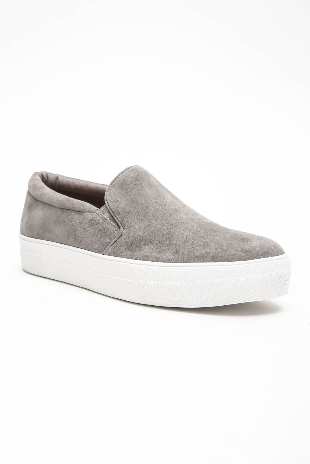 3f16e3dd72e Steve Madden Gills Slip On Sneakers in GREY