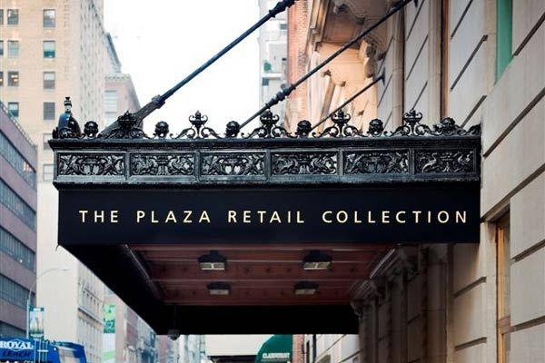 Cast iron entrance canopy in New York
