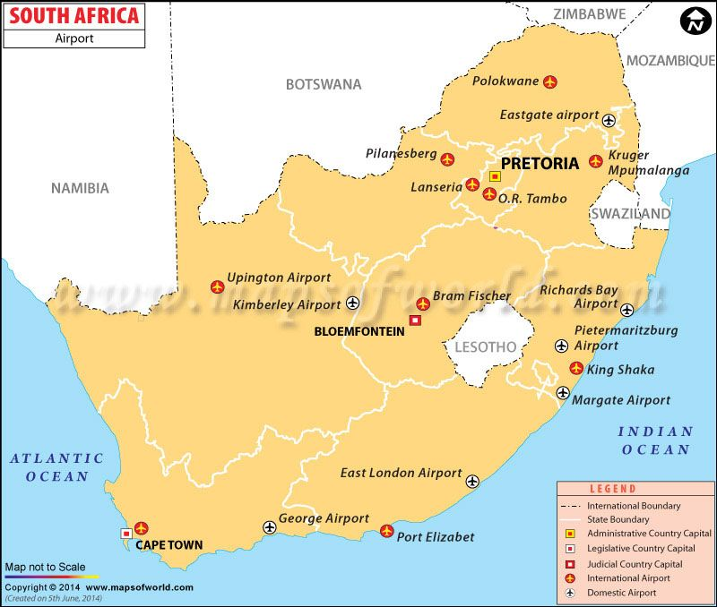 Map South Africa Airports Airports in South Africa Map, South Africa Airports | South africa