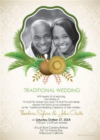 Printable African Wedding Invitation Card