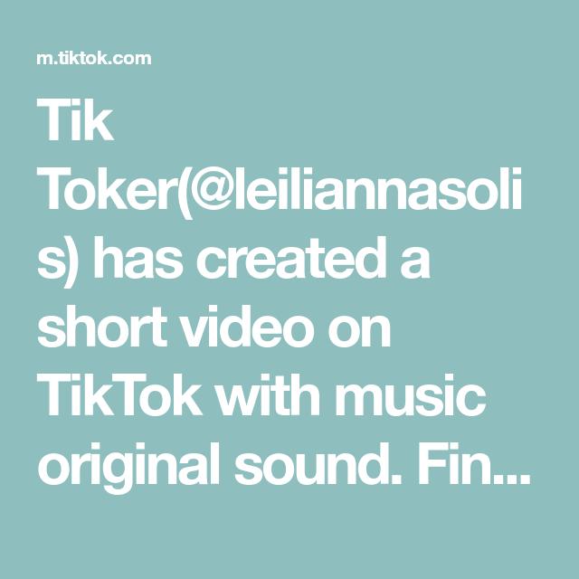 Tik Toker Leiliannasolis Has Created A Short Video On Tiktok With Music Original Sound Finally Decided To Post It The Originals Yandere Stories Greenscreen