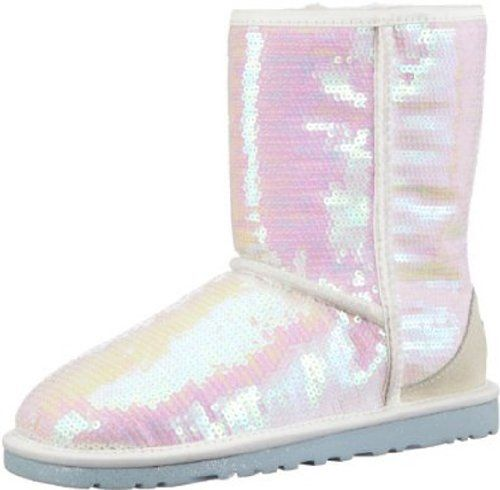UGG Women's Sparkles I Do Boot (White Sequins 6.0 M)