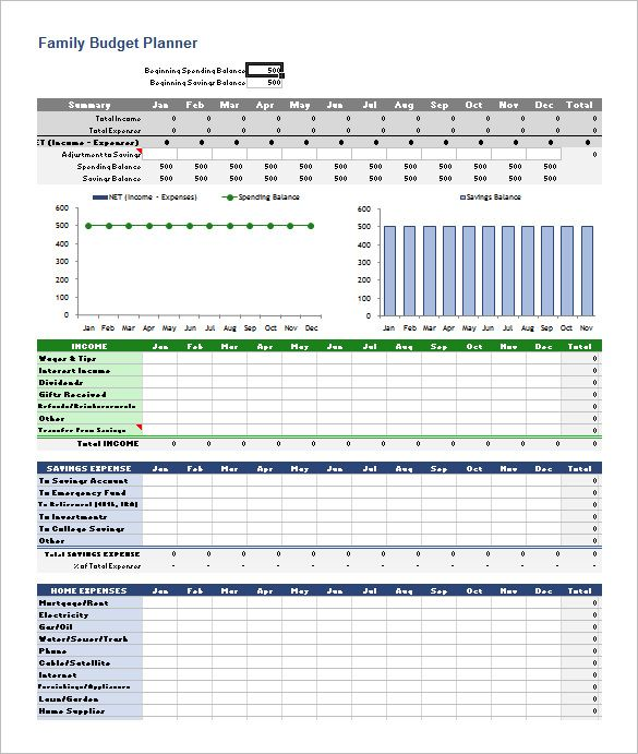 Family Budget Planner Excel Format  Basic Budget Template  How
