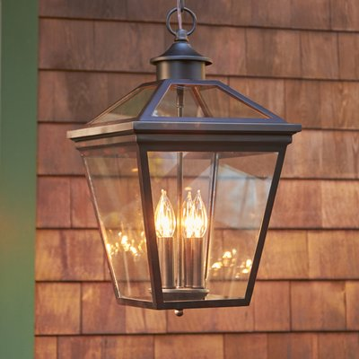 Meriline 4 Light Outdoor Hanging Lantern In 2020 Outdoor Hanging Lanterns Outdoor Hanging Lights Hanging Porch Lights