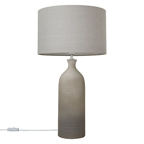 Buy John Lewis Scratched Ombre Bottle Table Lamp, Tall, Grey Online at johnlewis.com