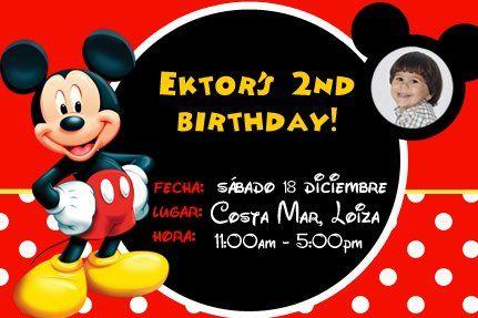 Mickey Mouse birthday party invitation. Themed party. Disney birthday. #invite