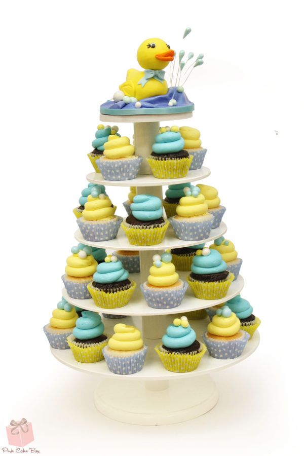 Rubber Ducky Baby Shower Cupcake Stand Baby Shower Cupcake Towers