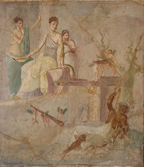 A Roman Wall Painting in the Fourth Style: Hercules and Omphale ...
