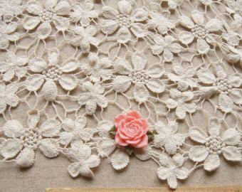 Vintage Cotton Lace Fabric Crochet Lace Fabricwedding Dress Lace