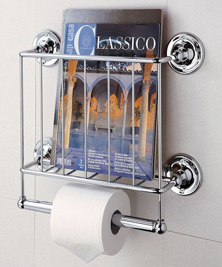 Chrome Estate Magazine Rack Toilet Paper Holder Magazine Rack Wall Toilet Paper