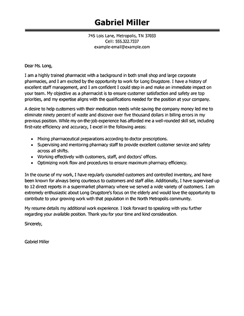 Operations Production Cover Letter Example | Letter Sample