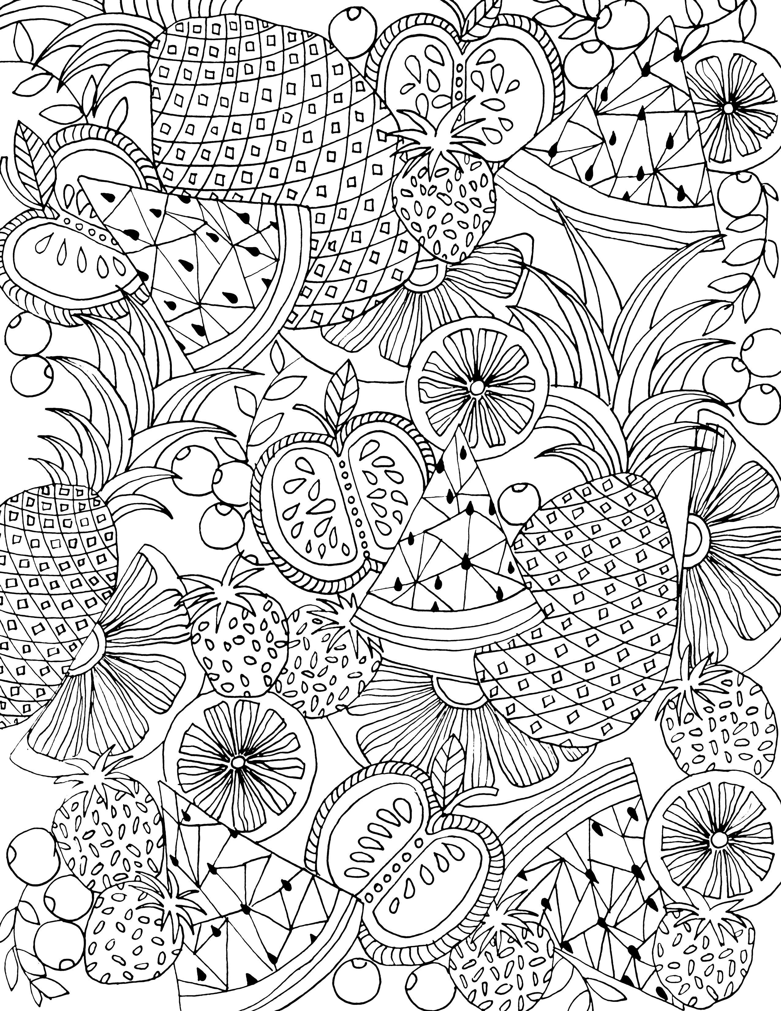 Frutas Mandalas Páginas Para Colorear Mandalas Para Pintar Pdf