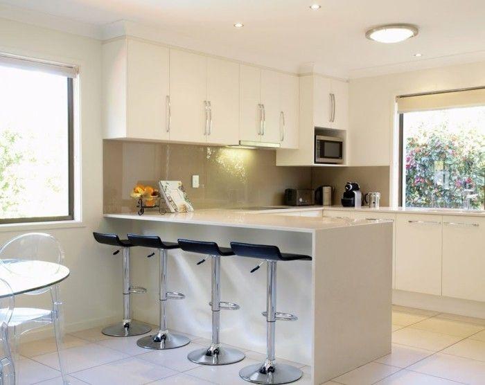 la cuisine en u avec bar voyez les derni res tendances cuisine pinterest chaises hautes. Black Bedroom Furniture Sets. Home Design Ideas