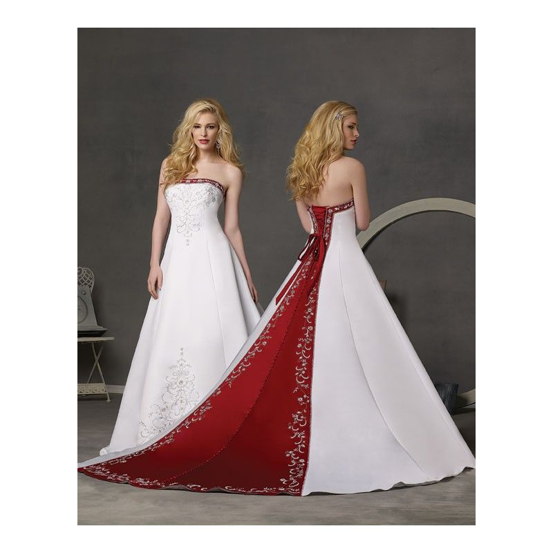 red and white wedding dresses | Red and White Wedding Dress with Red ...