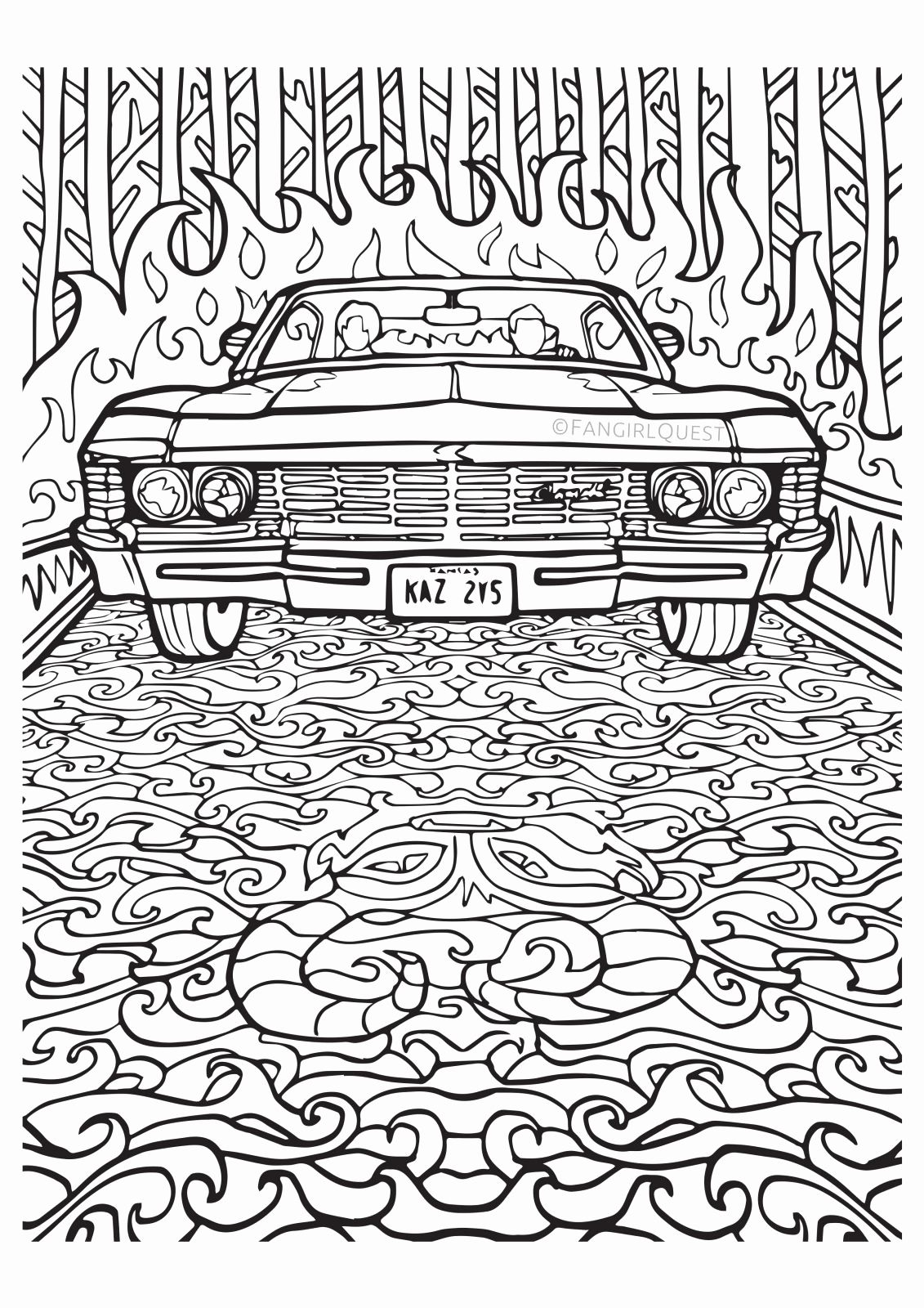Supernatural Coloring Pages American Coloring Pages Cool Coloring Pages Cars Coloring Pages Love Coloring Pages