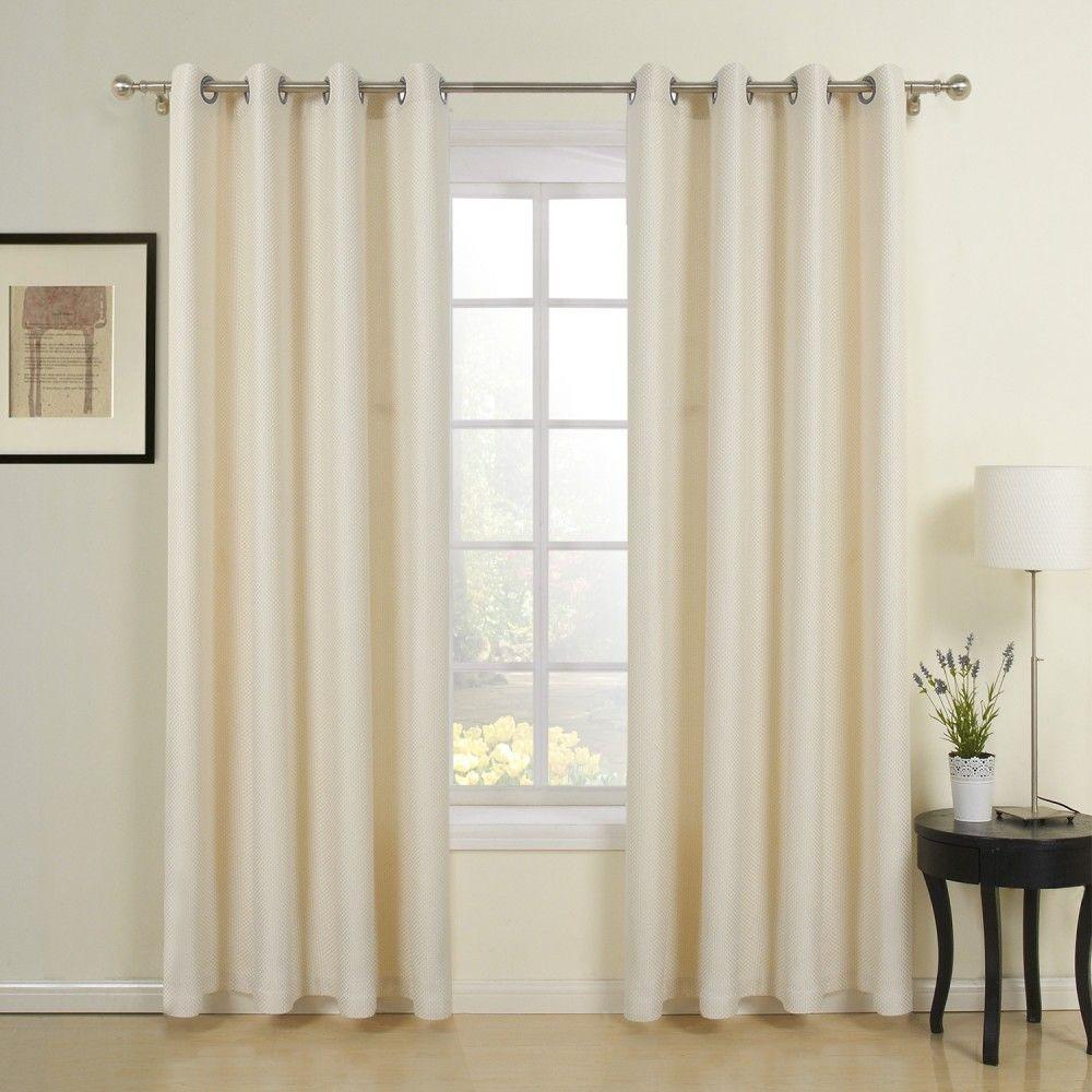 Classic Beige Jacquard Energy Saving Curtain Curtains Decor
